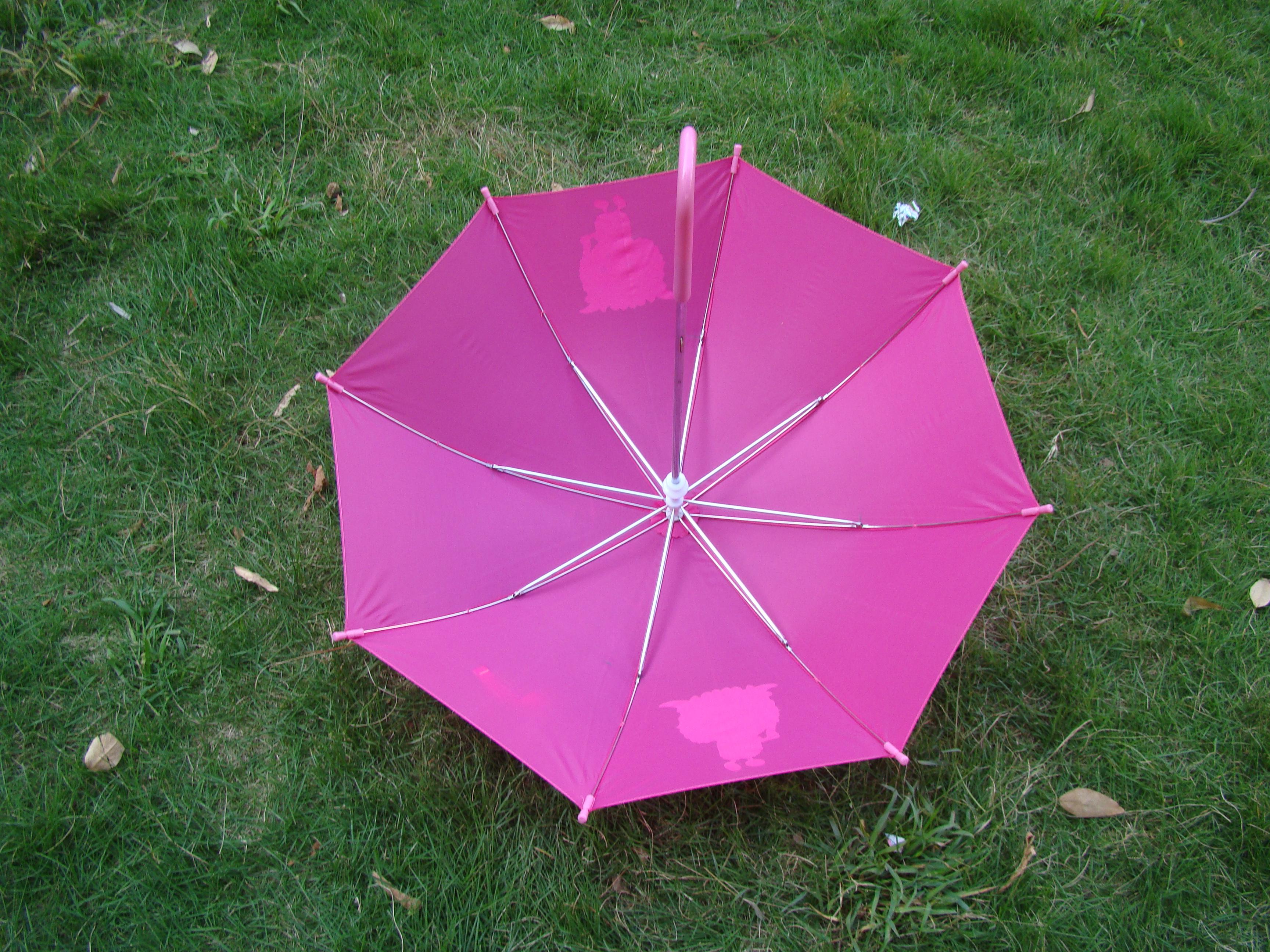 彩铅画画简单伞